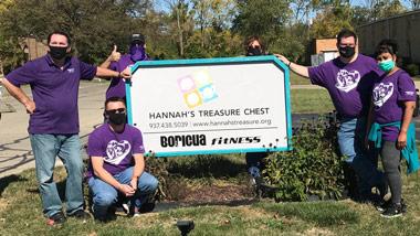 Hollywood Dayton helps Hannah's Treasure Chest October 2020