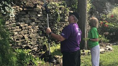 Hollywood Gaming at Dayton Raceway employees volunteer at the Grotto Gardens at The Dayton VA Medical Center