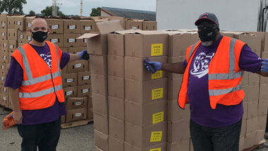 Hollywood Dayton employees volunteering at The Foodbank, Inc. in Dayton, OH