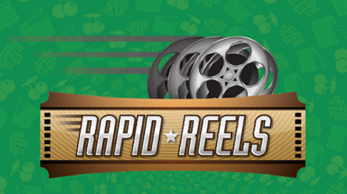 rapid reels logo with green background