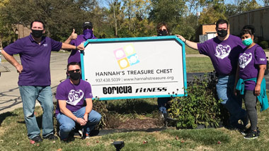 Hollywood Dayton helps Hannah's Treasure Chest October 2020